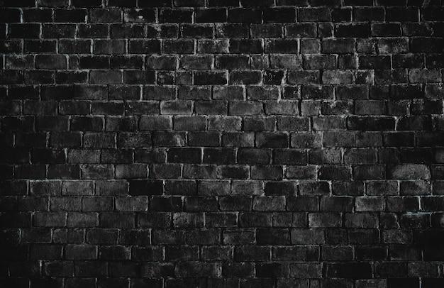 Fundo de parede de tijolo texturizado preto Foto gratuita
