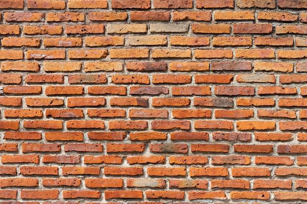 Fundo de parede de tijolo vermelho ao ar livre Foto Premium