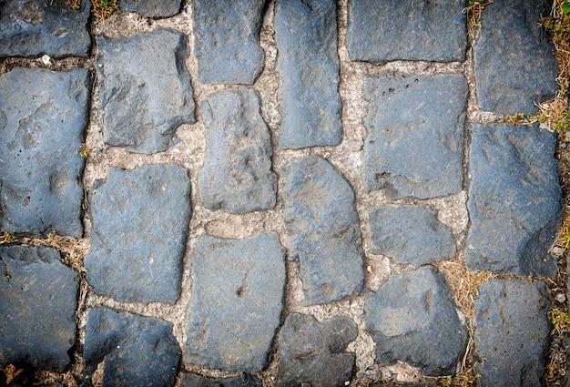 Fundo de pavimento de paralelepípedos de granito Foto Premium