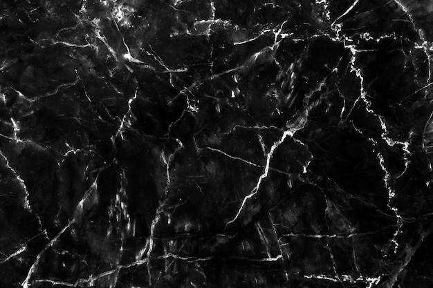 Fundo de pedra natural de textura de fundo de mármore preto Foto Premium