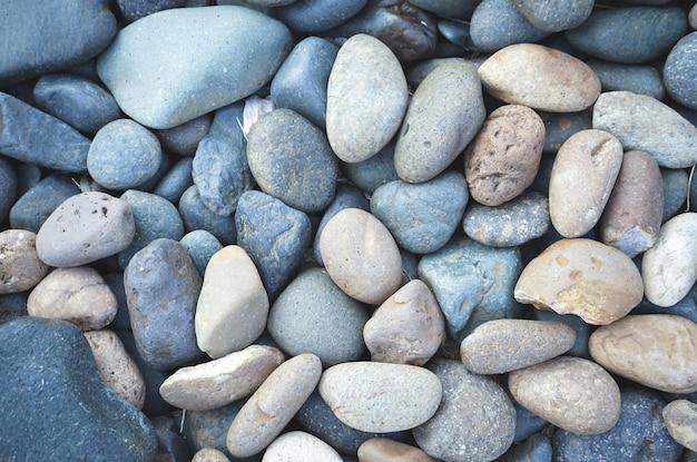 Fundo de pedra seixos com filtro vintage Foto Premium