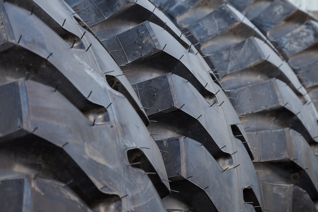 Fundo de pilha de pneu de caminhão Foto Premium