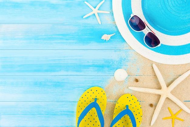 Fundo de praia de férias de verão colorido Foto Premium