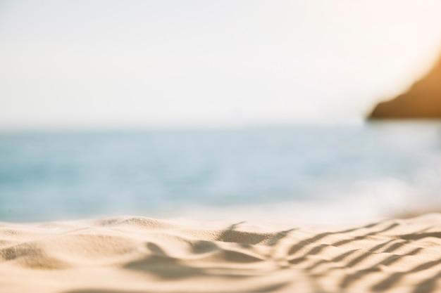 Fundo de praia turva Foto gratuita