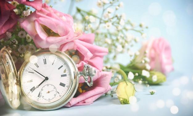 Fundo de primavera. época da estação Foto Premium