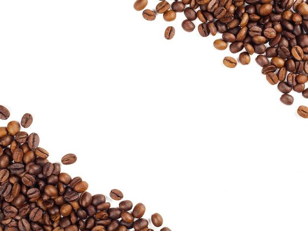 Fundo de quadro de grãos de café tailandês torrado Foto Premium