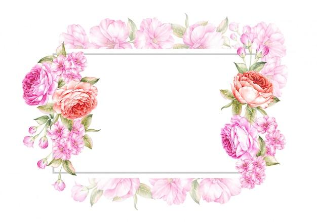 Fundo de quadro de primavera para casamento Foto Premium