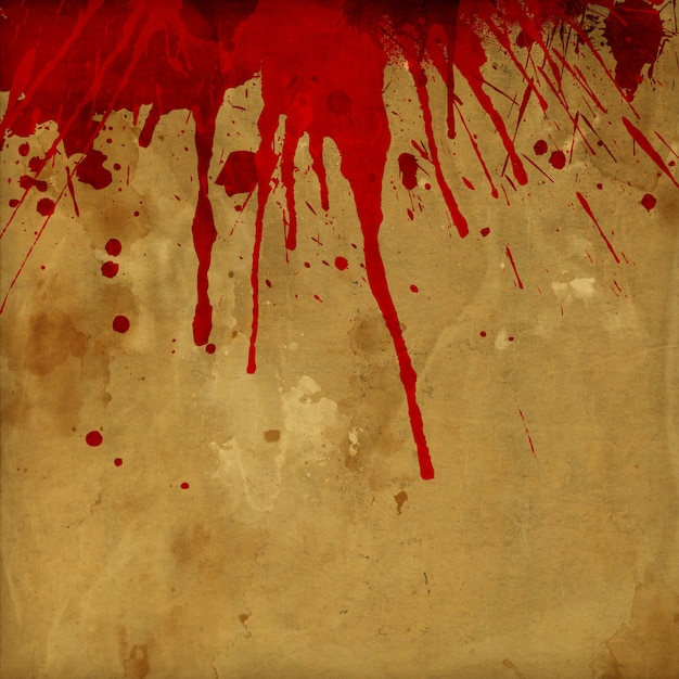 Fundo de respingos de sangue de grunge Foto gratuita