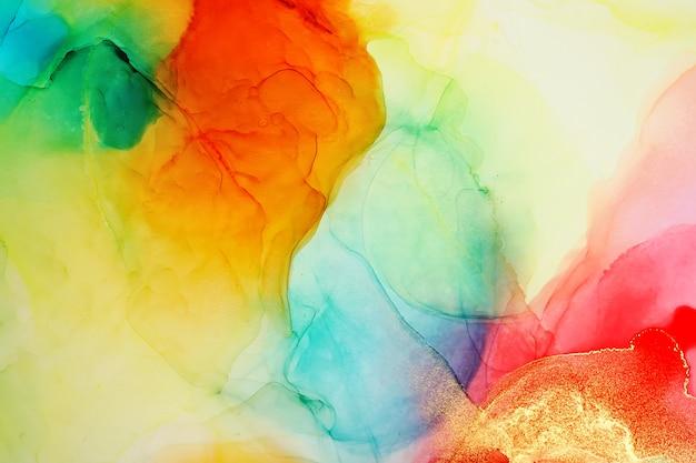 Fundo de resumos de pintura a tinta de álcool Foto Premium