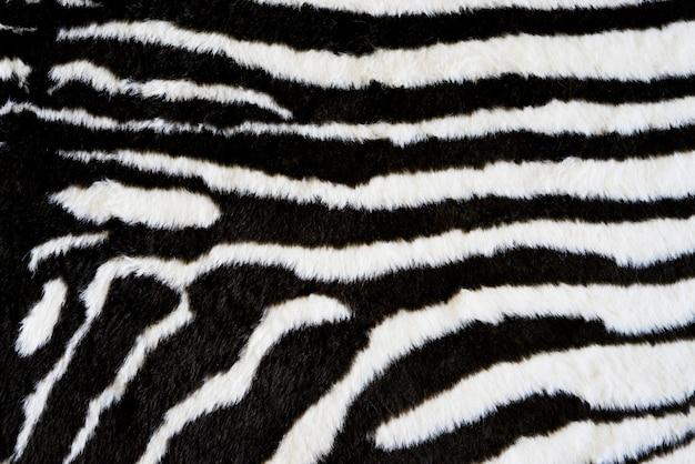 Fundo de tapete de textura de zebra. estampa de animal Foto Premium