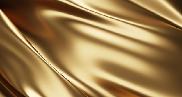 Fundo de tecido de luxo dourado Foto Premium