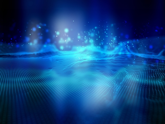 Fundo de tecnologia de conexões de rede Foto gratuita