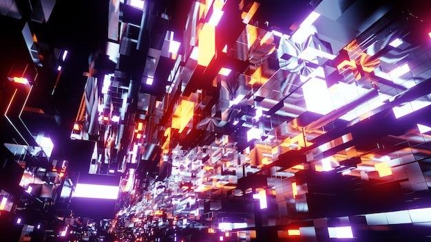 Fundo de tecnologia espacial blockchain Foto Premium