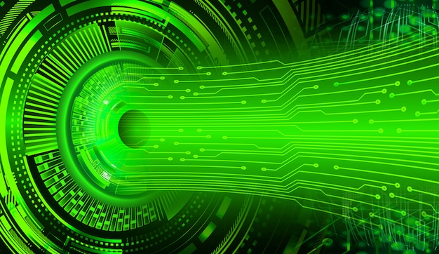 Fundo de tecnologia futura do olho cibernético circuito Foto Premium