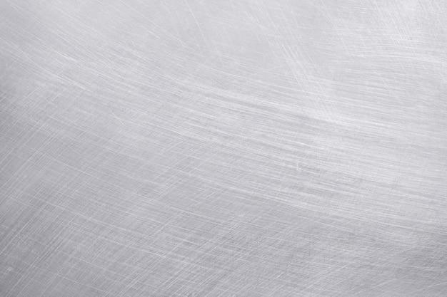 Fundo de textura de alumínio, arranhões em aço inoxidável. Foto Premium