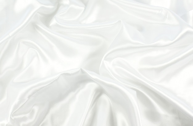 Fundo de textura de cetim branco Foto gratuita