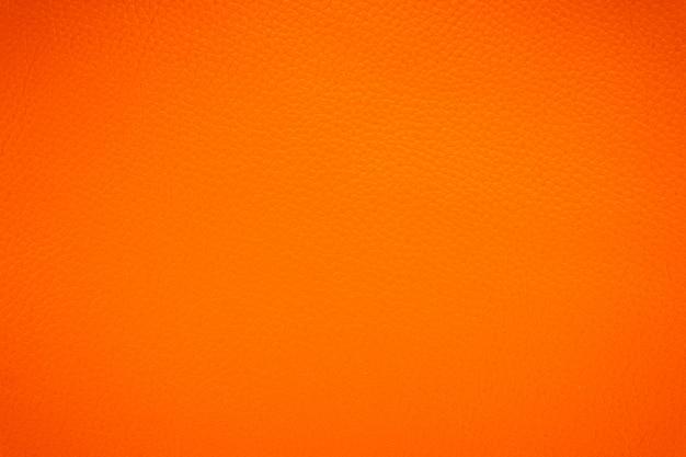 Fundo de textura de couro laranja Foto Premium
