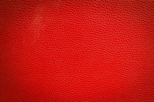 Fundo de textura de couro vermelho Foto Premium