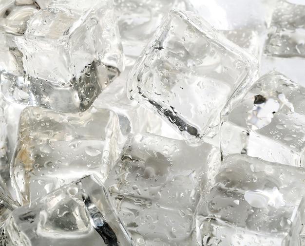 Fundo de textura de cubos de gelo Foto gratuita