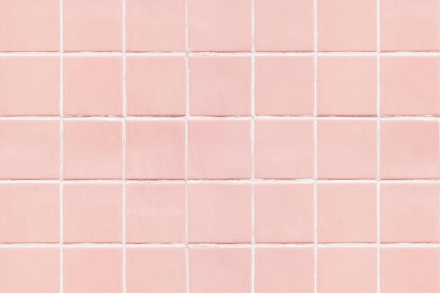 Fundo de textura de ladrilhos quadrados rosa Foto gratuita