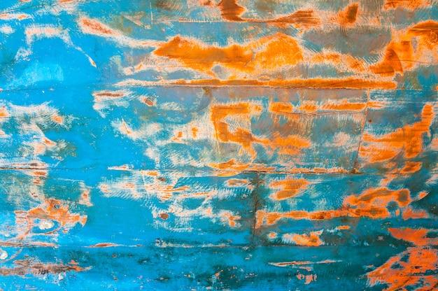 Fundo de textura de madeira grunge vermelho e azul Foto Premium