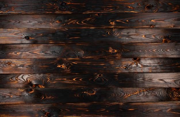 Fundo de textura de madeira queimada Foto Premium