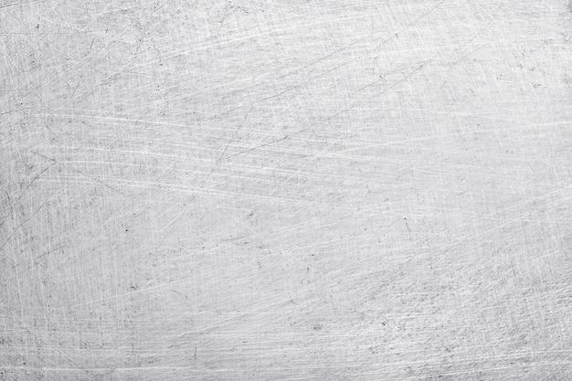 Fundo de textura de metal de alumínio, arranhões em aço inoxidável polido. Foto Premium