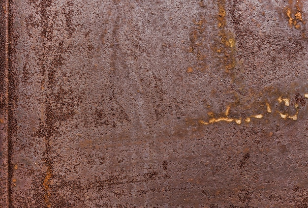 Fundo de textura de metal. superfície de metal plana enferrujada velha. Foto Premium