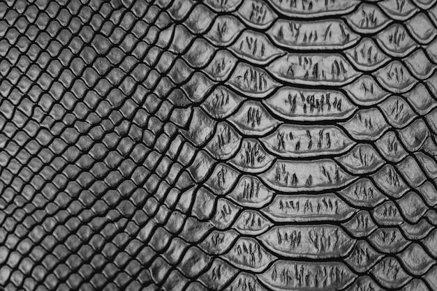 Fundo de textura de padrão de pele de cobra preta Foto Premium