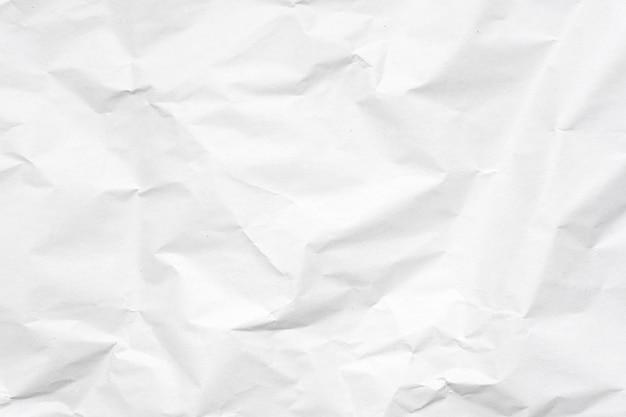 Fundo de textura de papel amassado branco. Foto Premium