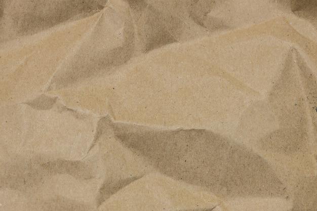 Fundo de textura de papel amassado marrom Foto Premium