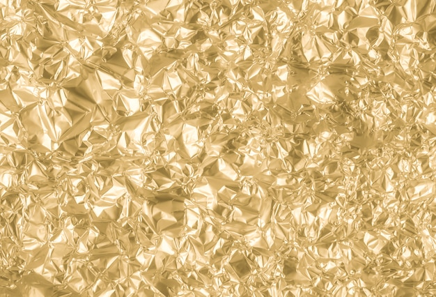 Fundo de textura de papel amassado ouro Foto Premium