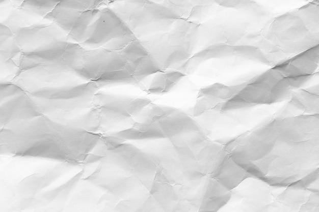 Fundo de textura de papel branco amassado Foto Premium