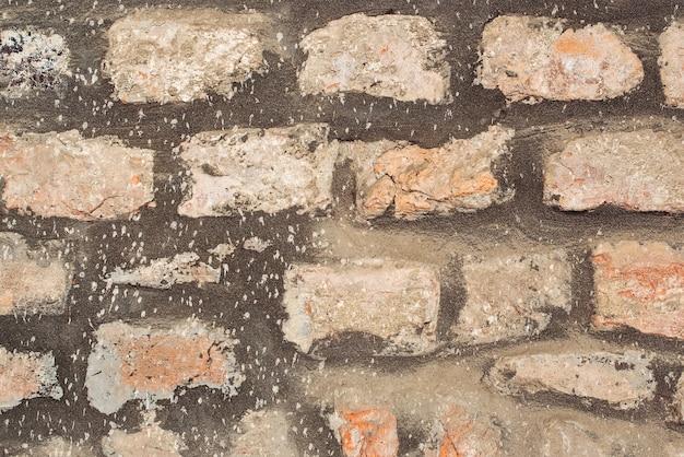 Fundo de textura de parede de pedra de castelo antigo Foto Premium