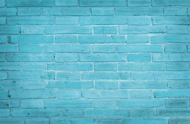 Fundo de textura de parede de tijolo azul claro Foto Premium