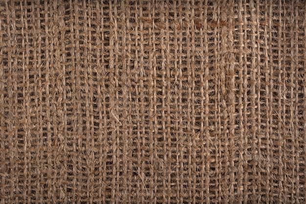 Fundo de textura de saco ou serapilheira marrom. Foto Premium