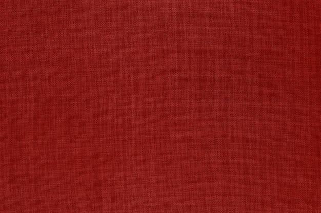 Fundo de textura de tecido de linho vermelho Foto Premium