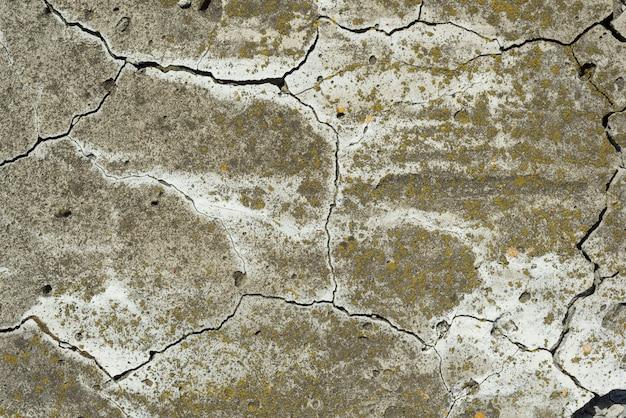 Fundo de textura de textura de cimento concreto rachado Foto Premium