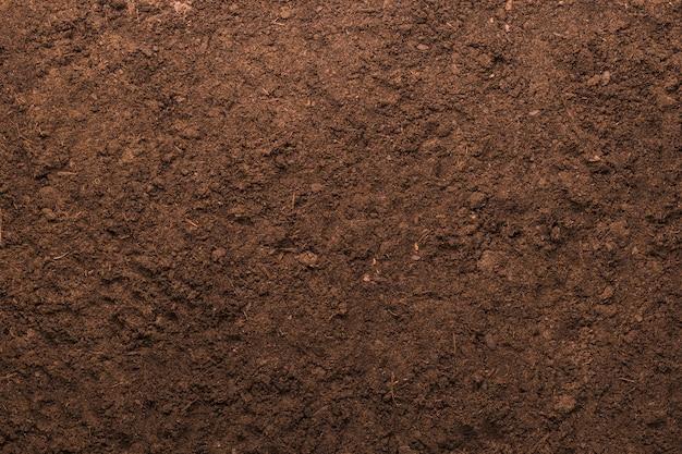 Fundo de textura do solo para o conceito de jardinagem Foto Premium