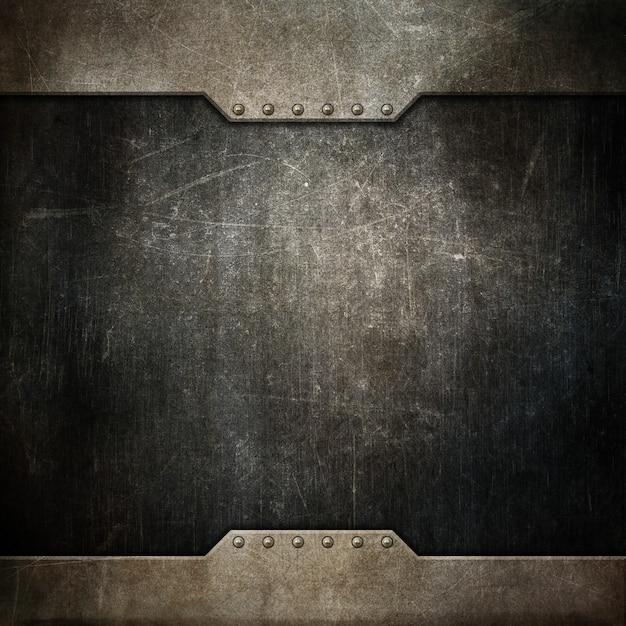 Fundo de textura grunge com design metálico Foto gratuita