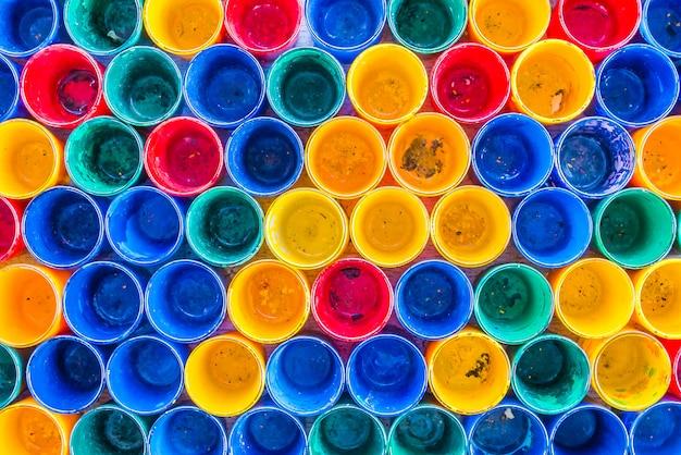 Fundo de texturas de garrafa colorida Foto gratuita
