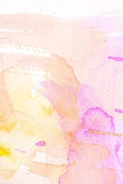 Fundo de traçado de pincel aquarela abstrata. Foto Premium