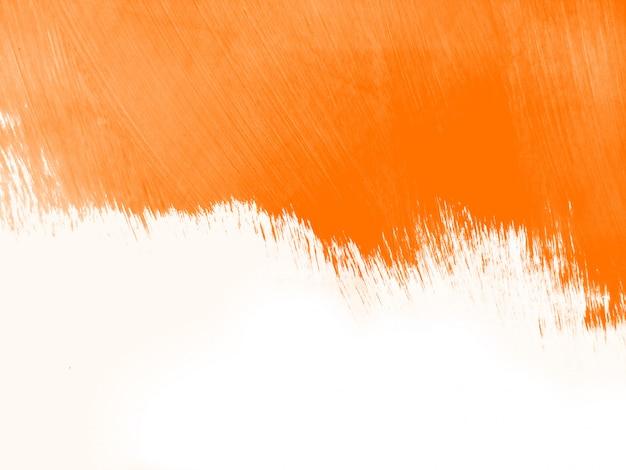 Fundo de traçado de pincel aquarela laranja Foto gratuita