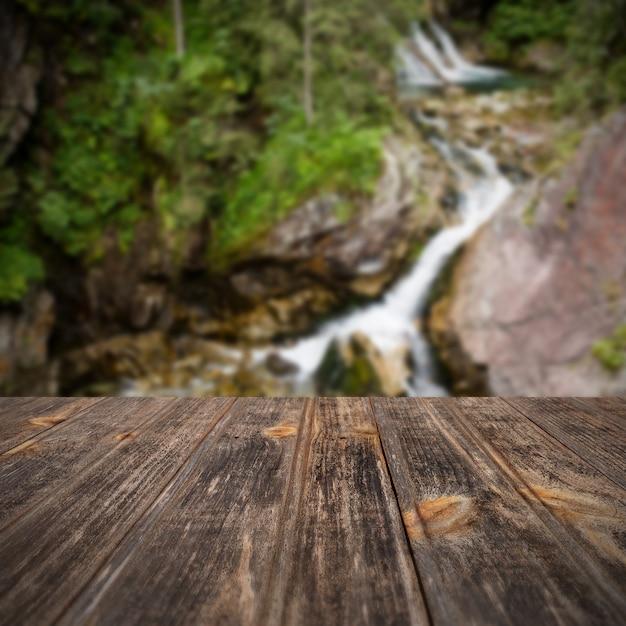 Fundo de viagens embaçada de perspectiva Foto Premium