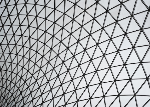 Fundo de vidro com padrão triangular Foto gratuita