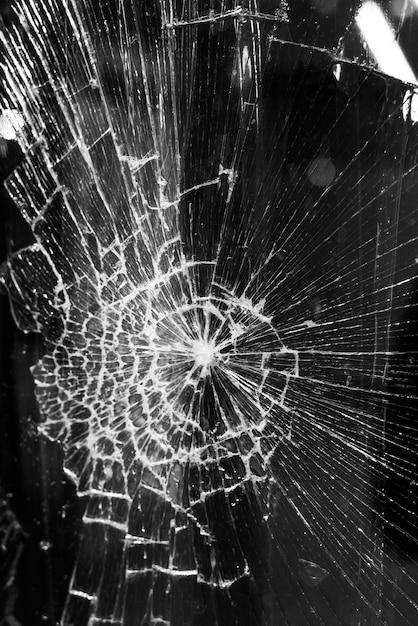 Fundo de vidro quebrado Foto Premium