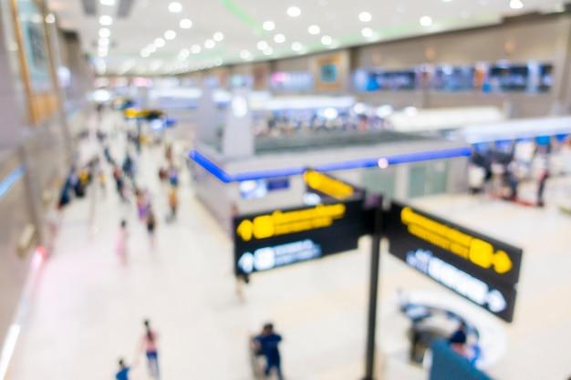 Fundo desfocado de dentro do aeroporto Foto Premium