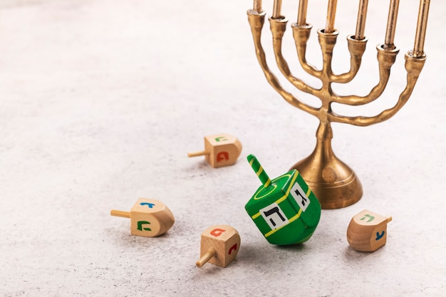 Fundo do feriado judaico de hanukkah Foto Premium
