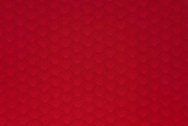 Fundo do padrão pontilhado japonês vermelho onda estilo sem costura Foto Premium
