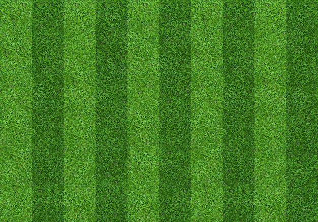 Fundo do teste padrão do campo de grama verde para o futebol e o futebol. Foto Premium